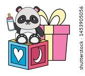 cute little bear panda baby... | Shutterstock .eps vector #1453905056