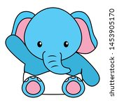 cute little elephant baby... | Shutterstock .eps vector #1453905170