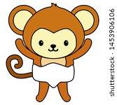 cute little monkey baby... | Shutterstock .eps vector #1453906106