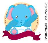 cute little elephant baby in... | Shutterstock .eps vector #1453907210