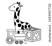baby shower toys giraffe cube... | Shutterstock .eps vector #1453907720