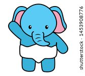 cute little elephant baby... | Shutterstock .eps vector #1453908776