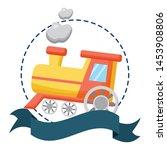 baby toys train sticker ribbon... | Shutterstock .eps vector #1453908806