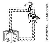 baby shower toys giraffe cube... | Shutterstock .eps vector #1453909406