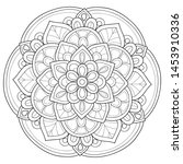 adult coloring book page a zen... | Shutterstock .eps vector #1453910336