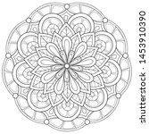 adult coloring book page a zen... | Shutterstock .eps vector #1453910390