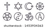 religion collection line icon.... | Shutterstock .eps vector #1453934363