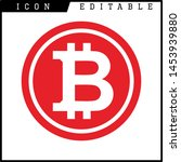 bitcoin sign icon for internet...   Shutterstock .eps vector #1453939880