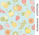 vector pastel seamless pattern... | Shutterstock .eps vector #145394236