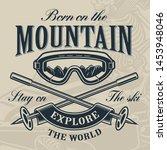 skiing logo concept  vector... | Shutterstock .eps vector #1453948046
