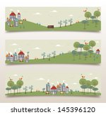 ecology city and forest idea... | Shutterstock .eps vector #145396120