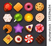 dessert icon set | Shutterstock .eps vector #145396654