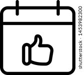 thumbs up or like gesture in... | Shutterstock .eps vector #1453982300