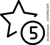 five star rating for an... | Shutterstock .eps vector #1453982309