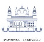 edification of amritsar golden... | Shutterstock .eps vector #1453998110