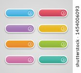 vector set button colorful long ...