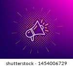 megaphone line icon. halftone... | Shutterstock .eps vector #1454006729