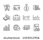set of finance icons  such as...   Shutterstock .eps vector #1454012906
