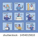 Business People With Various...