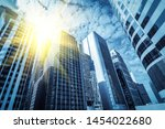 from a low angle skyscraper in... | Shutterstock . vector #1454022680