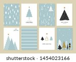 set of christmas and new year's ... | Shutterstock .eps vector #1454023166