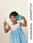 kid telling story or little... | Shutterstock . vector #1454037719