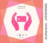 hands holding credit card....   Shutterstock .eps vector #1454039000