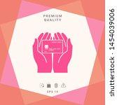 hands holding credit card  ...   Shutterstock .eps vector #1454039006
