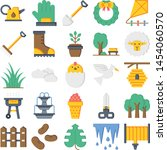 spring icons pack. isolated...   Shutterstock .eps vector #1454060570