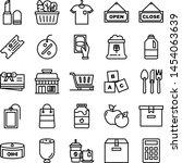 supermarket icons pack....   Shutterstock .eps vector #1454063639