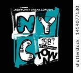 nyc newyork metropolis town... | Shutterstock .eps vector #1454077130