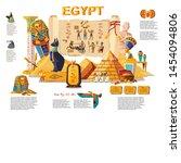 ancient egypt infographic...   Shutterstock .eps vector #1454094806
