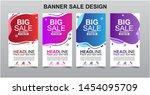 vektor modern fluid for big...   Shutterstock .eps vector #1454095709