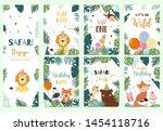 green collection of safari... | Shutterstock .eps vector #1454118716