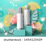 blank spray bottles on square... | Shutterstock .eps vector #1454125439
