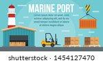 marine port warehouse concept...   Shutterstock .eps vector #1454127470