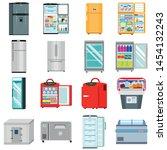Freezer Icons Set. Flat Set Of...