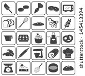 basic bakery icons vector set | Shutterstock .eps vector #145413394