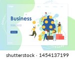 business vector website...   Shutterstock .eps vector #1454137199