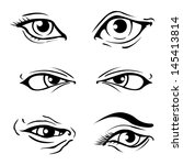 various illustrated human eyes | Shutterstock .eps vector #145413814