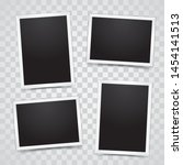 photo frame set mockup vector... | Shutterstock .eps vector #1454141513