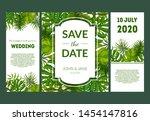 save the date  elegant wedding... | Shutterstock .eps vector #1454147816