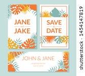 save the date  elegant wedding... | Shutterstock .eps vector #1454147819