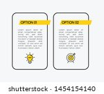 infographic with business icons ...   Shutterstock .eps vector #1454154140