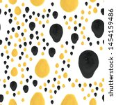 smear paint black and yellow... | Shutterstock .eps vector #1454159486