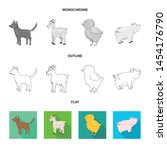 vector illustration of breeding ... | Shutterstock .eps vector #1454176790