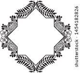floral frame. floral wreath.... | Shutterstock .eps vector #1454182826