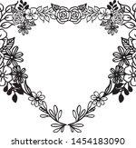 vintage set  ornament floral... | Shutterstock .eps vector #1454183090