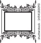 vintage set  ornament floral... | Shutterstock .eps vector #1454183093
