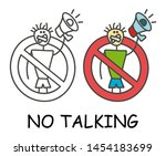 funny vector stick man with his ... | Shutterstock .eps vector #1454183699